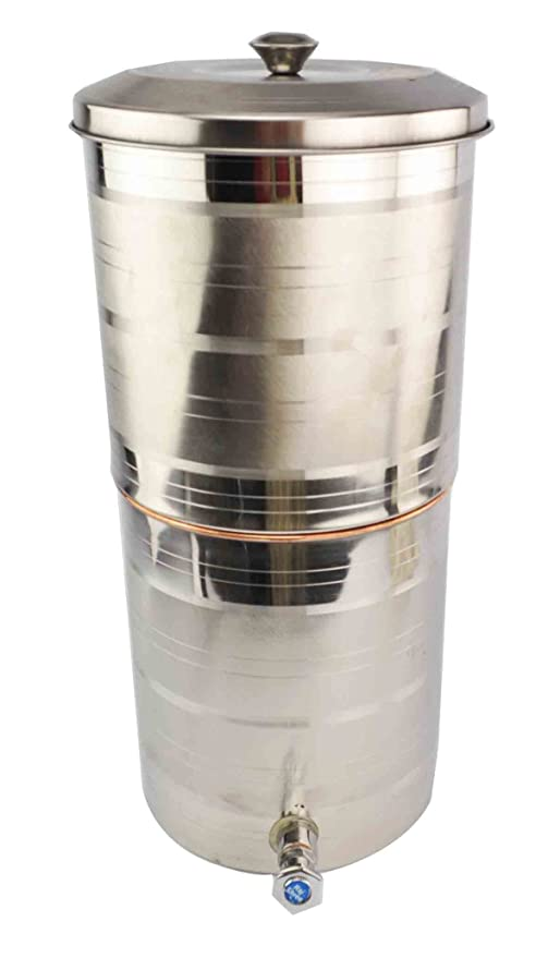 15 litros de acero dispensador de agua filtro de agua de cobre o cama de matrimonio con grifo para Ayurveda salud natural: Amazon.es: Hogar