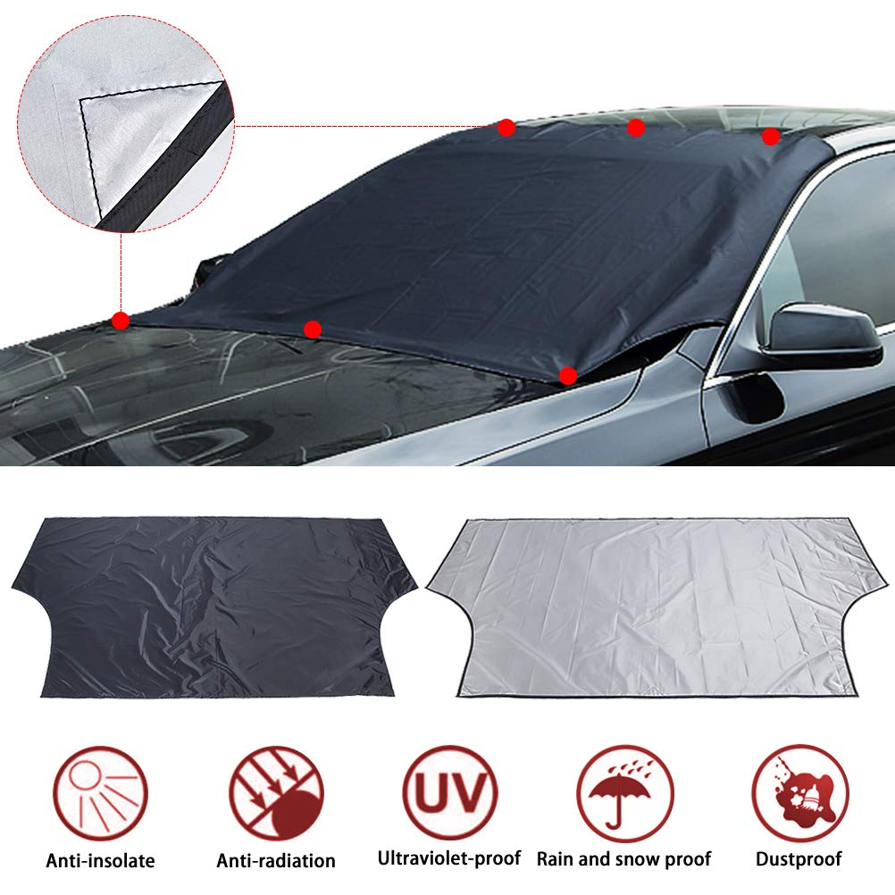 Windshield Snow Ice Cover Waterproof Windproof Dustproof Outdoor Car Covers Sun Protection for Truck SUV Aiung
