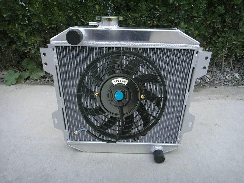 Radiador de aluminio + ventilador para F-ord Escort 1600/2000 Capri MK2/MK3 GECP Cortina OHV 1.3/1.6/2.0L gasolina 1970-1988