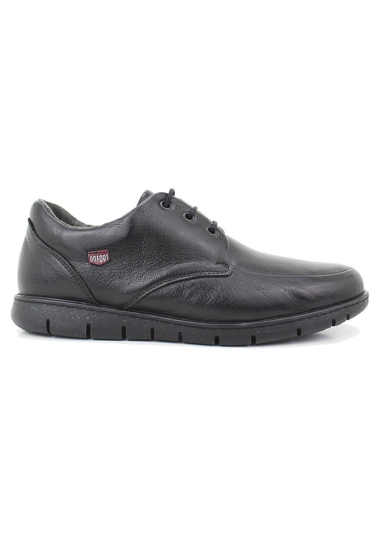 zapattu On Foot - Zapatos Profesional atado en Negro - Negro, 40