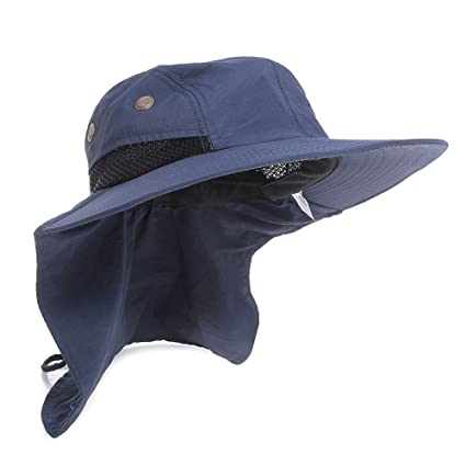 7b08692577c KT-Global UV Protection Outdoor Sun Snap Hat Neck Flap Ear Cover Wide Brim  Sun