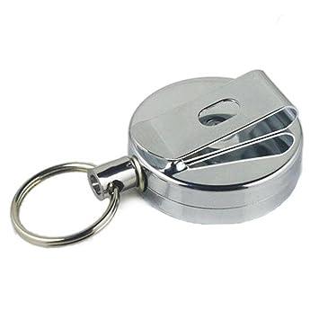 camtoa Lot de 2 Duty rétractable Porte-clés Porte-clés Recoil Clé chaîne  enrouleur fd845765d96