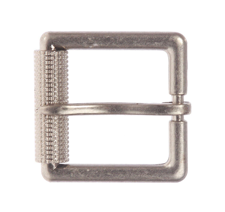 MONIQUE Men Antique Silver Single Prong Roller 1.5 Belt Replacement Buckle