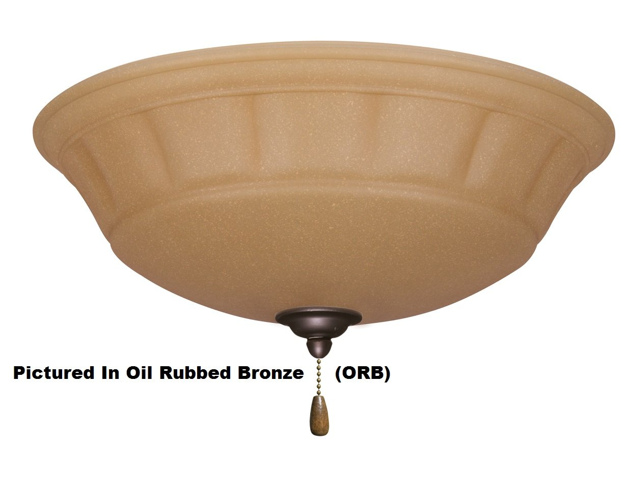 Emerson Ceiling Fans LK140BS Grande Amber Scavo Light Fixture for Ceiling Fans, Candelabra, Brushed Steel Ceiling Light with Pull Chain