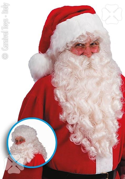 Babbo Natale Italy.Carnival Toys Parrucca E Barba Per Travestimento Da Babbo Natale