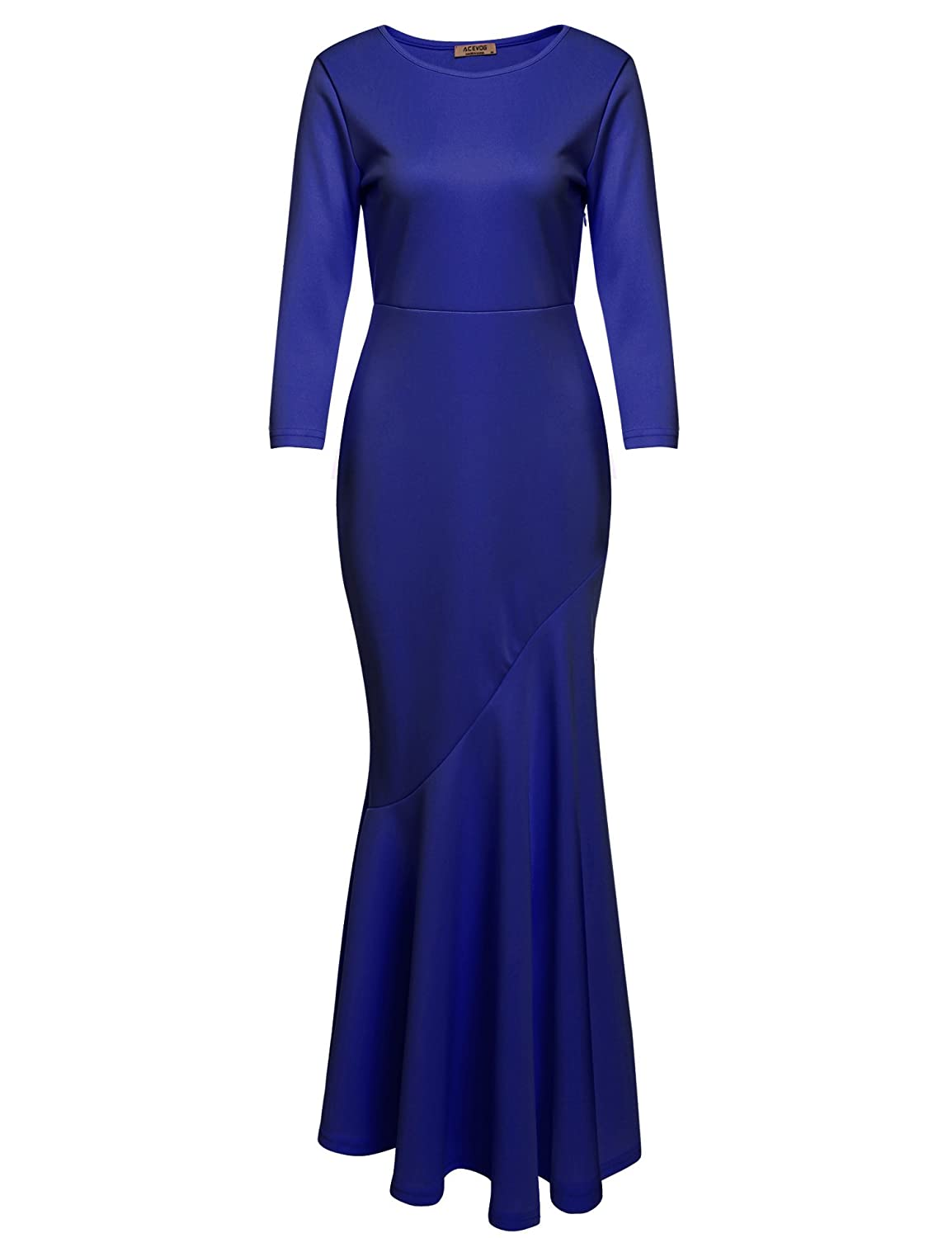 Vintage Evening Dresses and Formal Evening Gowns ACEVOG Womens 30s Brief Elegant Mermaid Evening Dress Bodycon Evening Gown $21.99 AT vintagedancer.com