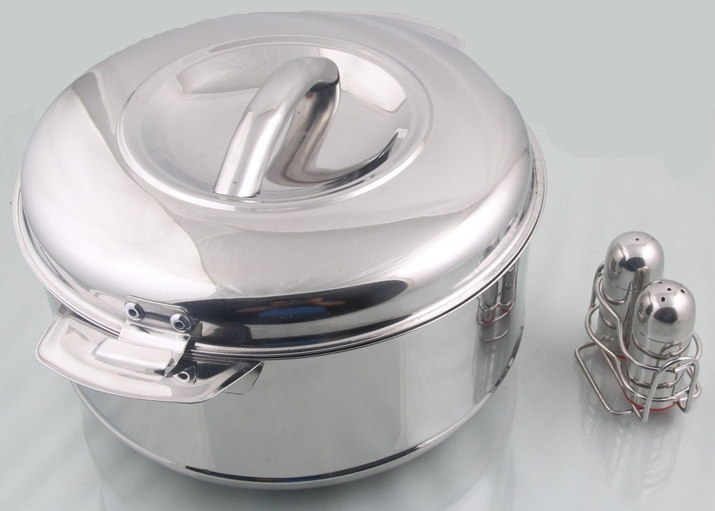 Casserole (1500 Ml) and Salt and Paper Stainless Steel Mayur Exports