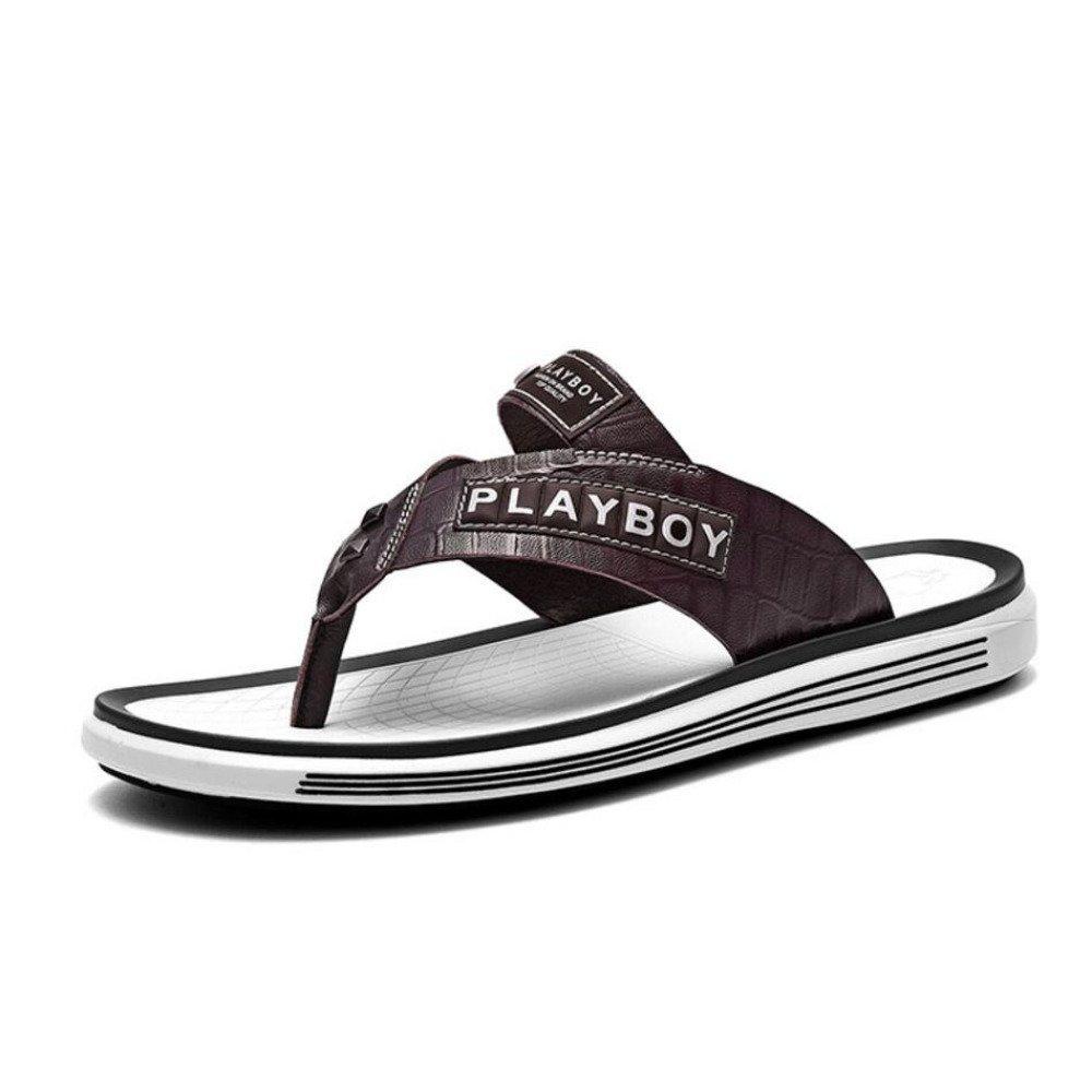 Sommer Hausschuhe Männer Tragen Flip-Flops Flip-Flops Männer Casual Strand Schuhe in Wilde Persönlichkeit Sandalen Gleiten in Schuhe Sandalen Mode Hausschuhe Braun f4b34c
