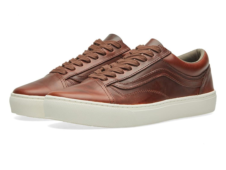 Vans Zapatillas de Piel Para Hombre Marrón Brown/Bone -