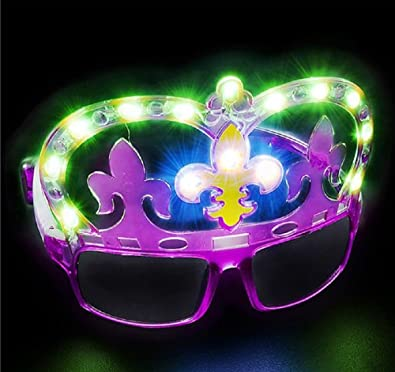 Amazoncom Light Up Mardi Gras Shades A Wild Prize For Wild Eyes