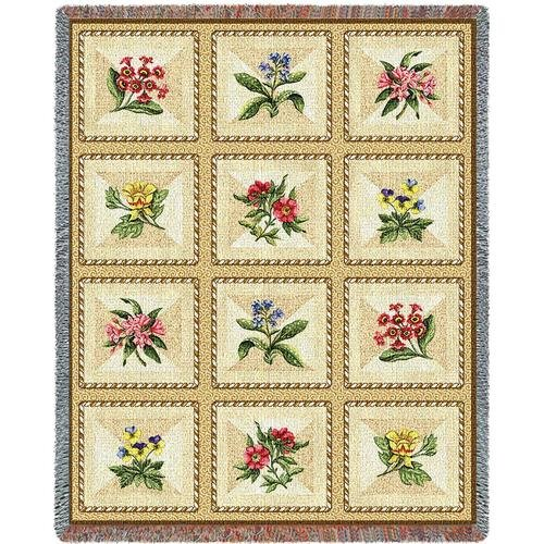 French Floral Throw - 70 x 54 Blanket/Throw (Pure Country Weavers Floral Tapestry)