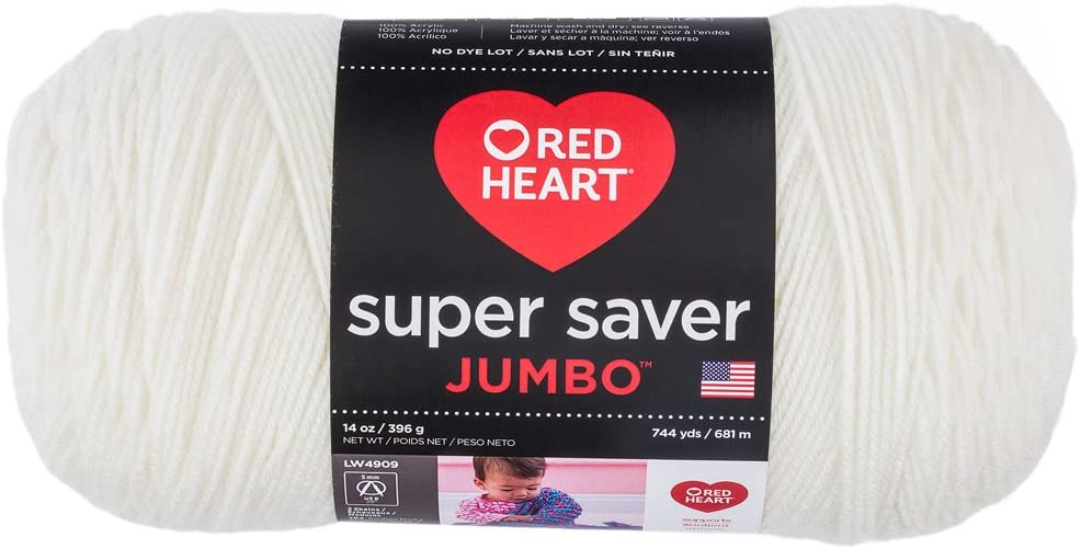 RED HEART 073650016004 Super Saver Jumbo Yarn Perfect Pink