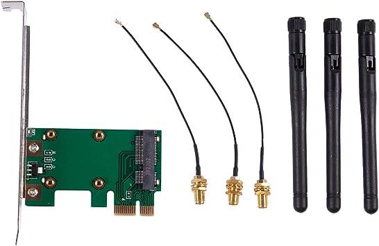 WOVELOT PCI-E Express a PCI-E Adaptador inalambrico con 3 ...
