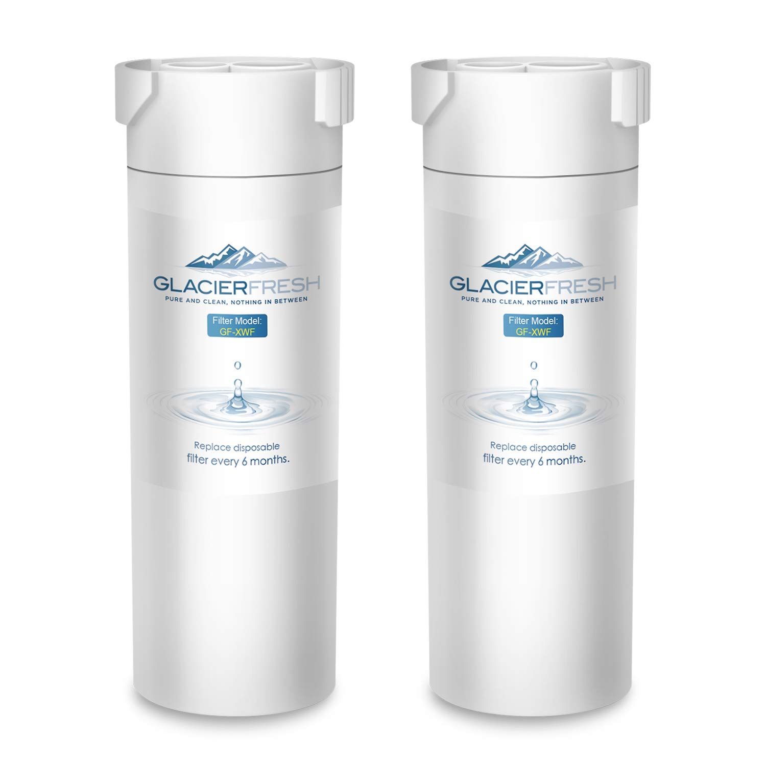GLACIER FRESH XWF Replacement For GE XWF Refrigerator Water Filter 2-Pack