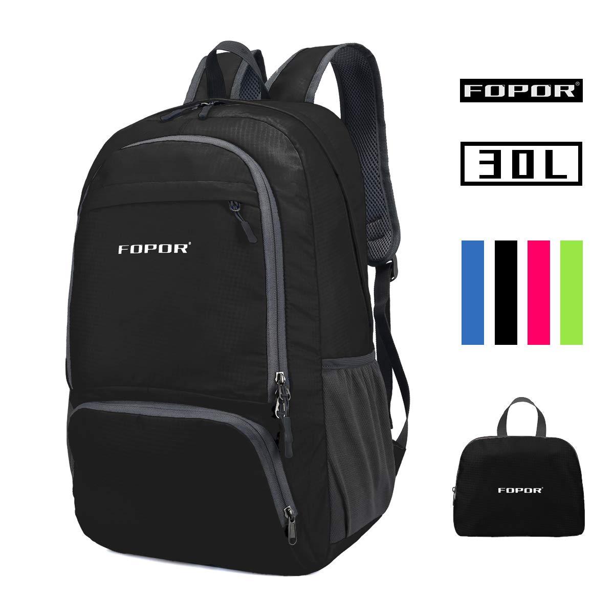 Foldable Lightweight Hiking Daypack Backpack – Water Resistant Folding Knapsack men women