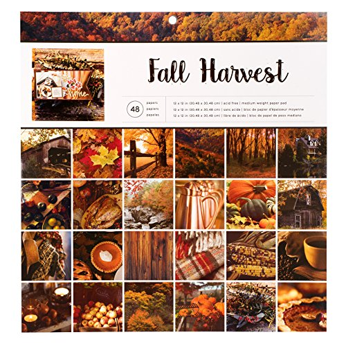 American Crafts Paper Pads 12 x 12 Inch 48 Sheet Fall Harvest -