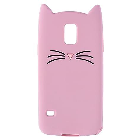 Rose Chat Coque Pour Samsung Galaxy S5,Housses de téléphone,TPU Silicone  Etui, 23bfab538e7