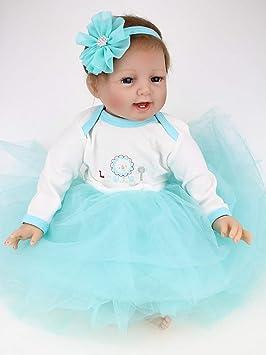 ZIYIUI Muñecas Reborn Baby Dolls 22 Pulgadas 55cm Bebe Reborn niña Suave Vinilo de Silicona Lifelike Ojos Abiertos Girl Bebé Recién Nacido Regalo ...