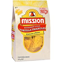 Mission Restaurant Style Tortilla Triangles, Extreme Cheese Corn Chips, 230g