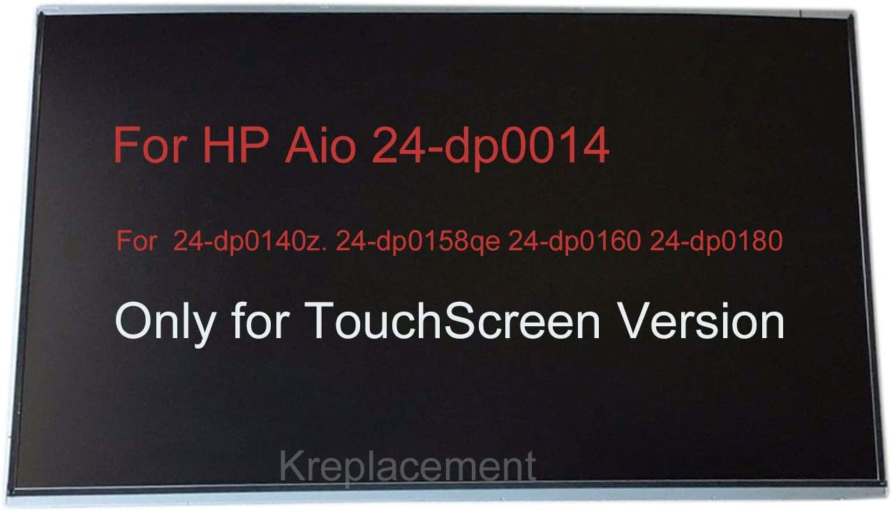 "23.8"" Touch Screen Replacement Digitizer Glass LCD Screen Display 1920x1080 for HP All-in-One 24-dp0014 24-dp0140z. 24-dp0158qe 24-dp0160 24-dp0180 AIO Desktop Monitor (Only for TouchScreen PC)"