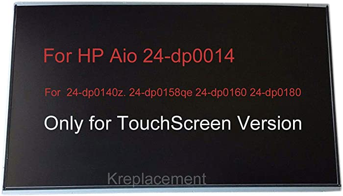 """23.8"""" Touch Screen Replacement Digitizer Glass LCD Screen Display 1920x1080 for HP All-in-One 24-dp0014 24-dp0140z. 24-dp0158qe 24-dp0160 24-dp0180 AIO Desktop Monitor (Only for TouchScreen PC)"""
