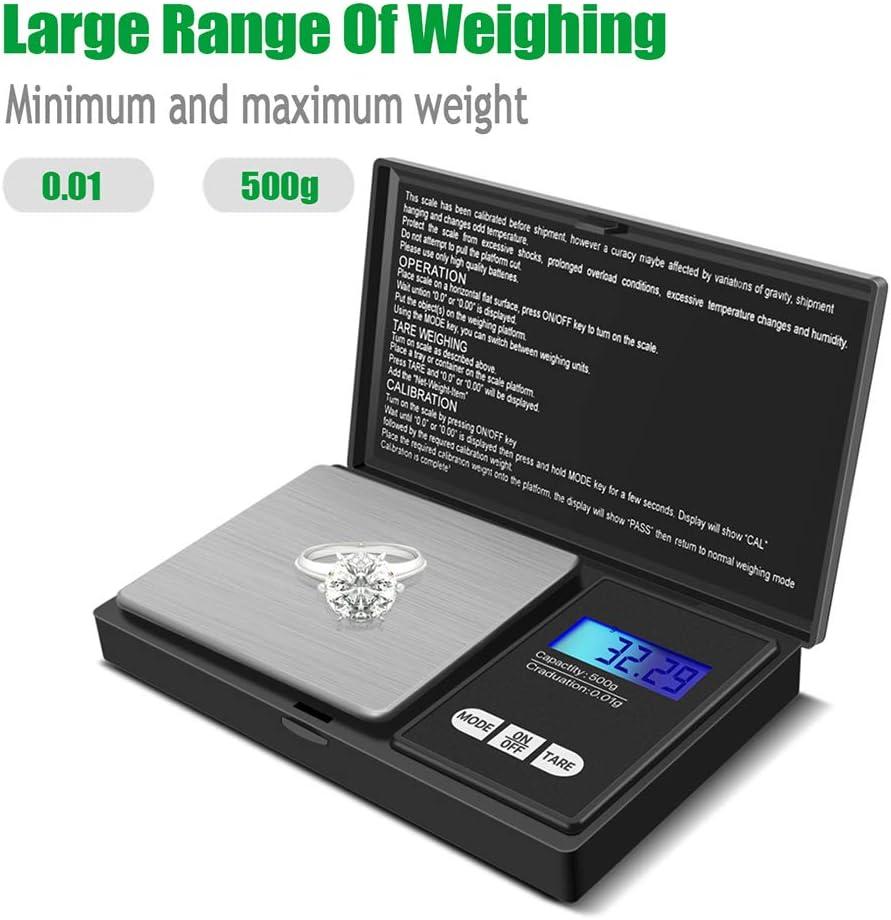 Bilancia portatile da cucina - bilancia digitale di precisione-500g x 0.01g