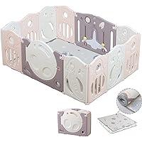 Bamitus - Parque de Juego para Bebe Plegable, Nuevo Panel Extra Grande, Parque Infantil de Plástico, Barrera Seguridad…