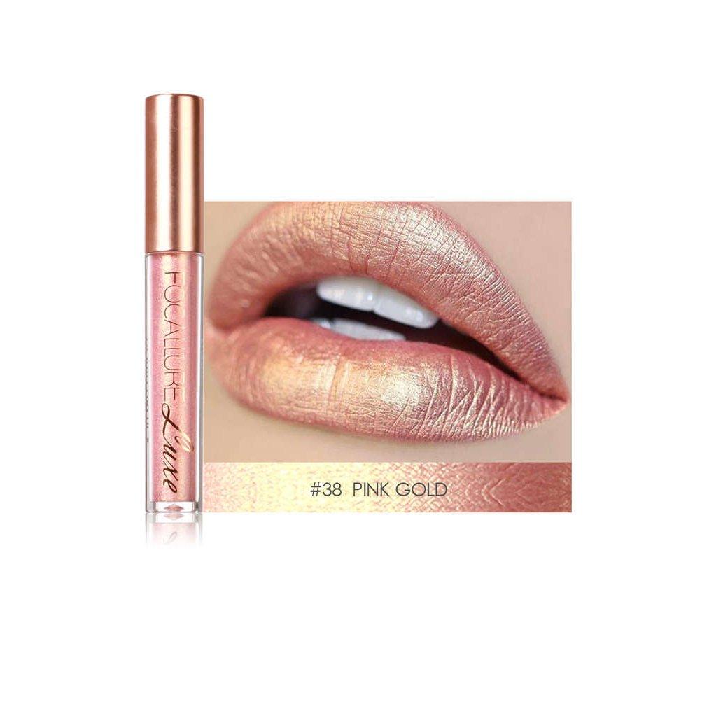 Babysbreath FOCALLURE Brillo labial brillante Lápiz labial líquido de larga duración Atractivo lápiz labial cosmético para los labios 36 #