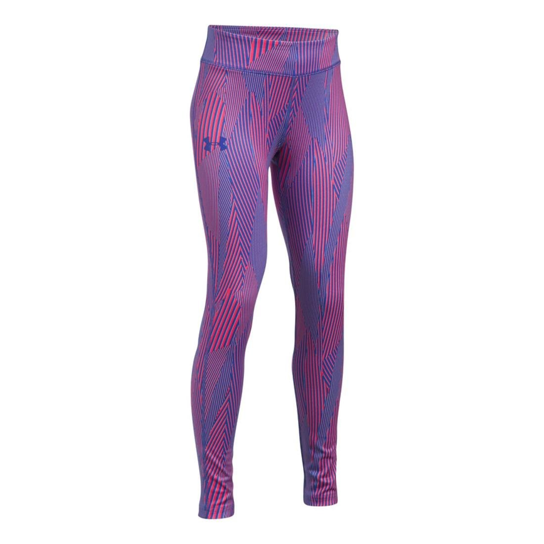 Under Armour Girls HeatGear Printed Legging, Constellation Purple, LG (14-16 Big Kids) x One Size