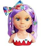 Nancy - Un Día de Secretos de Belleza Violeta, Busto de Peluquería y Maquillaje para Niños y Niñas a Partir de 3 Años…