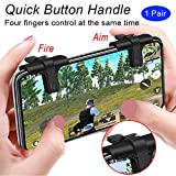 Cheap Mobile Game Controller(Newest Version), weini Cell Phone Game Controller Sensitive Shoot and Aim Buttons L1R1 Trigger Buttons for PUBG/Knives Out/Rules of Survival support Android and iOS(1 Pair)