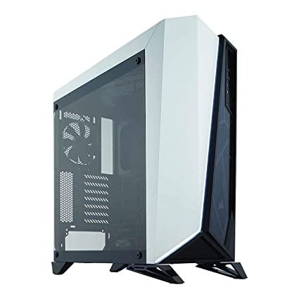 low priced b5f6c 1f3c2 CORSAIR Carbide SPEC-Omega Mid-Tower Gaming Case, Tempered Glass- White