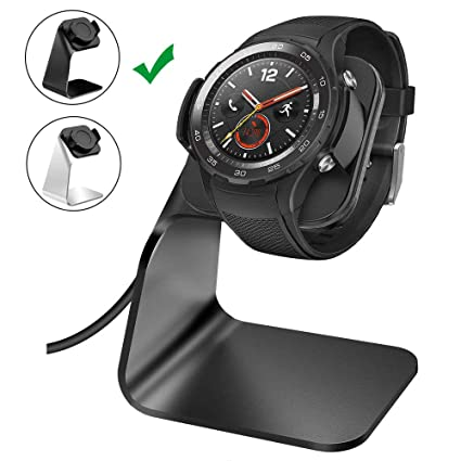 NANW Charger Dock Compatible with Huawei Watch 2, Replacement Charging Cradle Adapter Holder with 4.2 ft USB Charging Stand Station Cable Accessories ...