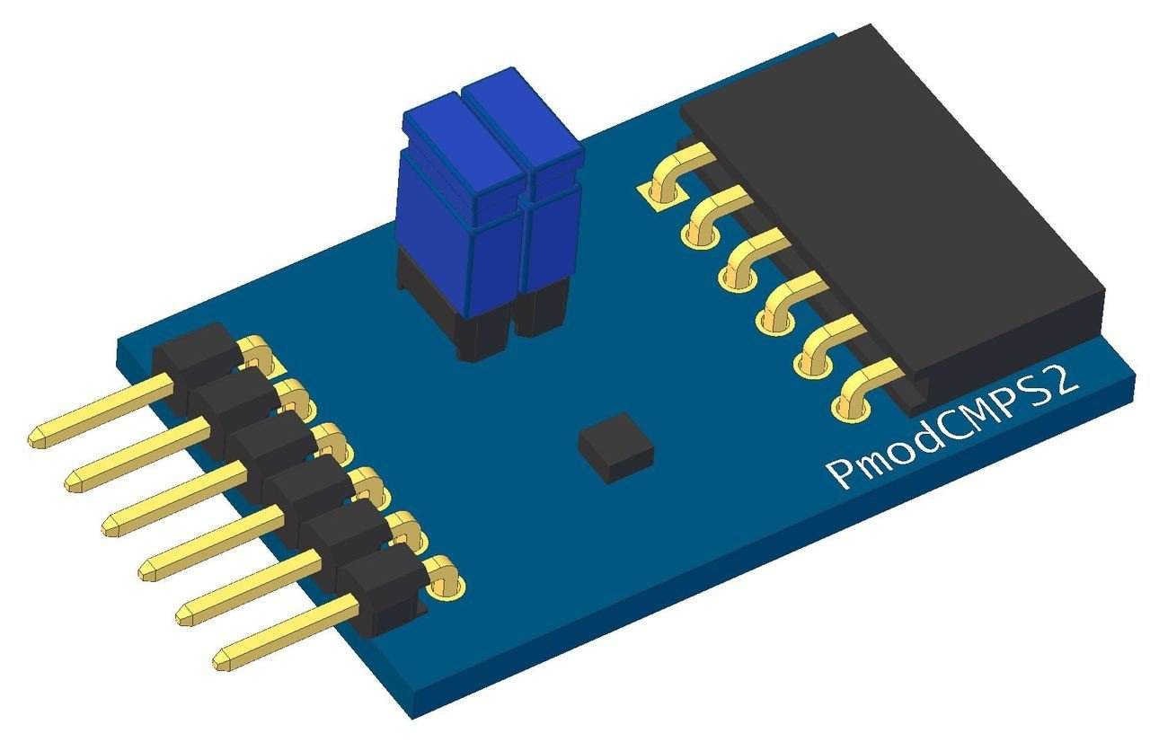 3-Axis Compass Pmod CMPS2