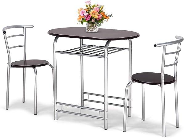 Goplus Set Mobili Tavolo con 2 Sedie, Tavolo e Sedie da