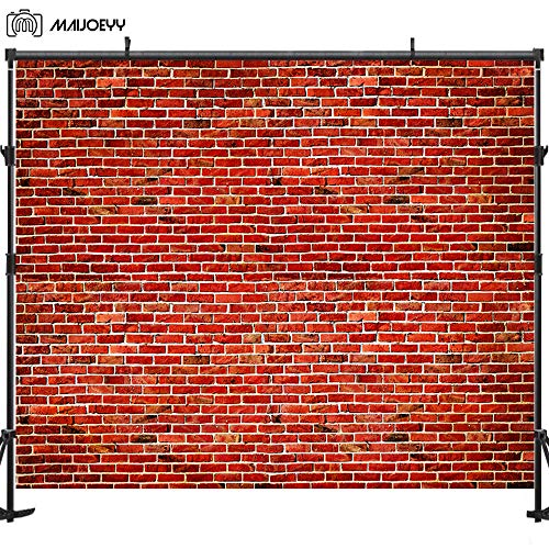 Maijoeyy 7x5ft Red Brick Photography Backdrops Brick Wall Photo Backdrop for Picture Birthday Party Decorations Photography Props Sesame Street Baby Children Photo Booth Backdrop for Photography