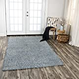 Rizzy Home TALTAL10100090305 Talbot Hand-Tufted Area Rug, 3' x 5', Blue