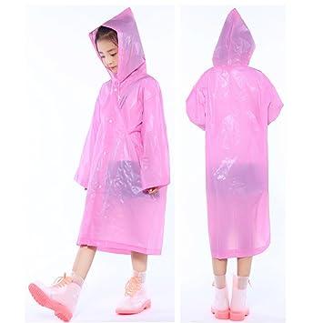 Children Hooded Cartoon Thicken Raincoats Waterproof Poncho Rainwear Rainsuit