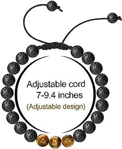 Tigers Eye Gemstone 5pcs Three Stones Adjustable Cuff Bangle Bracelet BG-30