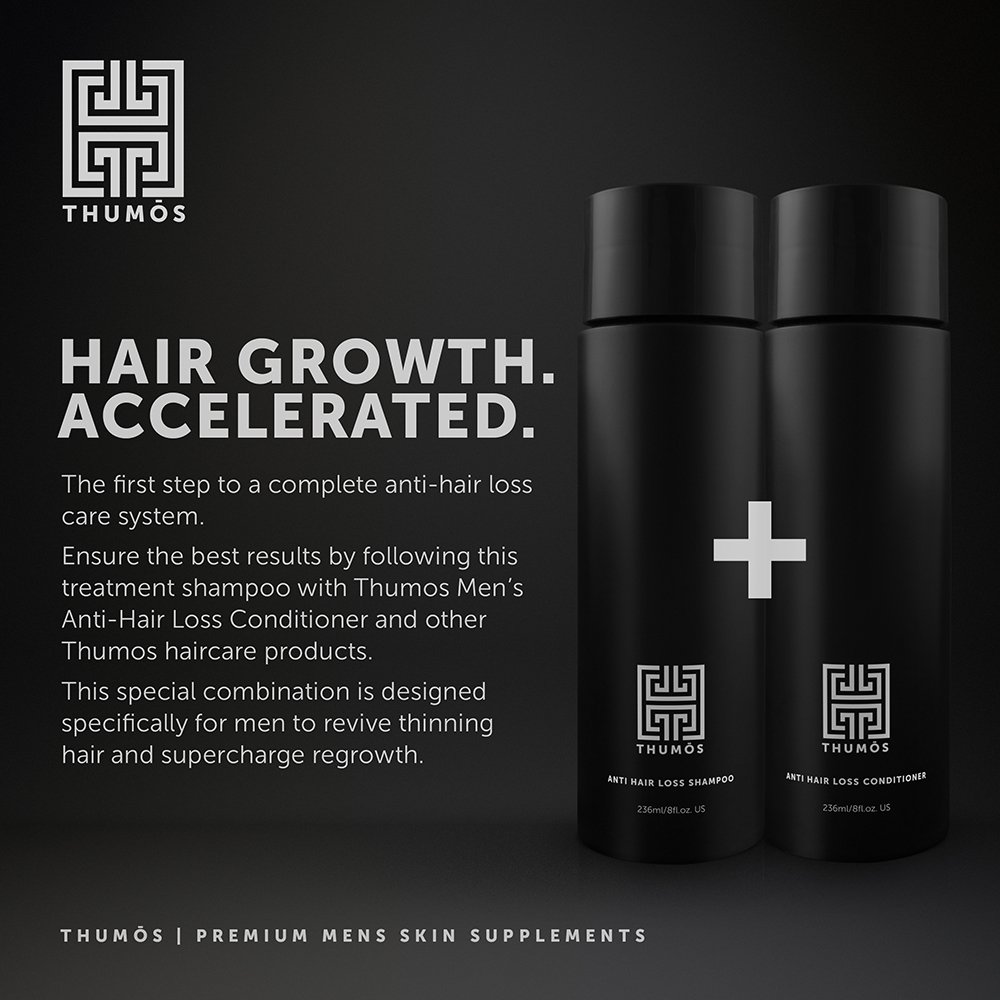 Male Hair Loss Shampoo for Men – Hair Thickening Shampoo Stimulates & Invigorates Hair Follicles to Promote Thicker, Fuller Growth by Thumos by Thumos (Image #6)