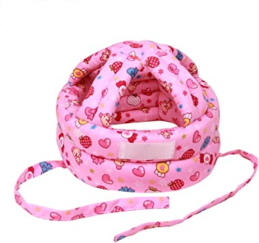 Adjustable Baby Infant Toddler Head Protection Hat Soft Drop Resistance Kids Crash Safety Helmet for Children Boys Girls Learning to Walk Or Run Protective Headgear Cap