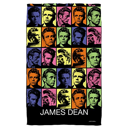 James Dean Color Block Beach Towel White 36X58
