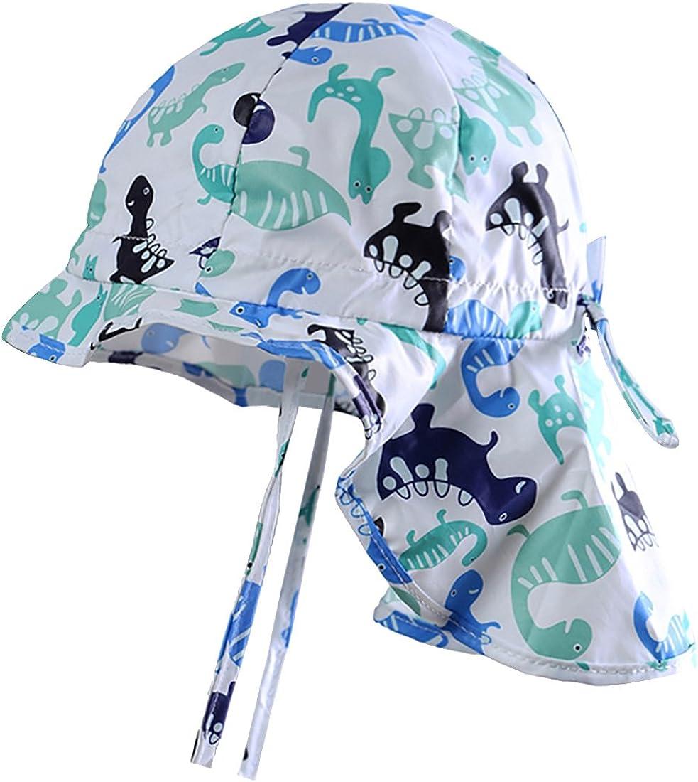 MeekEra Sombrero de Sol para Bebé Protección Solar con Chal Suave Transpirable Gorro de Bebés Anti-UV con Barbijo Ajustablle con Alas Anchas Aire Libre Gorro de Sol Niño