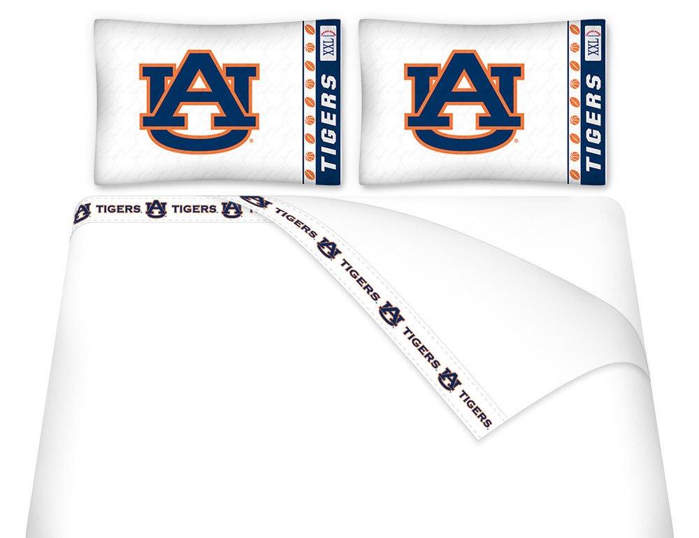 AUBURN TIGERS QUEEN BEDDING SET, Comforter, 4 pc Sheet Set, Boy Football NCAA bag