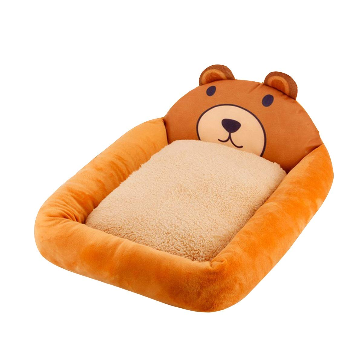 Brown S Brown S Kennel Four Seasons Universal, Cat Litter, Summer Washable, Small Dog Supplies Bed, Summer Bite-Resistant Nest, 3D Bear, 3D Pig, Square (color   Brown, Size   S)