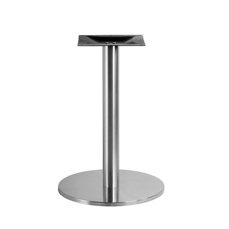 Untergestell Rund EDELSTAHL Tischgestell Bistrotisch ✔ Bodenplatte Ø 50cm Edelstahlmarkenshop