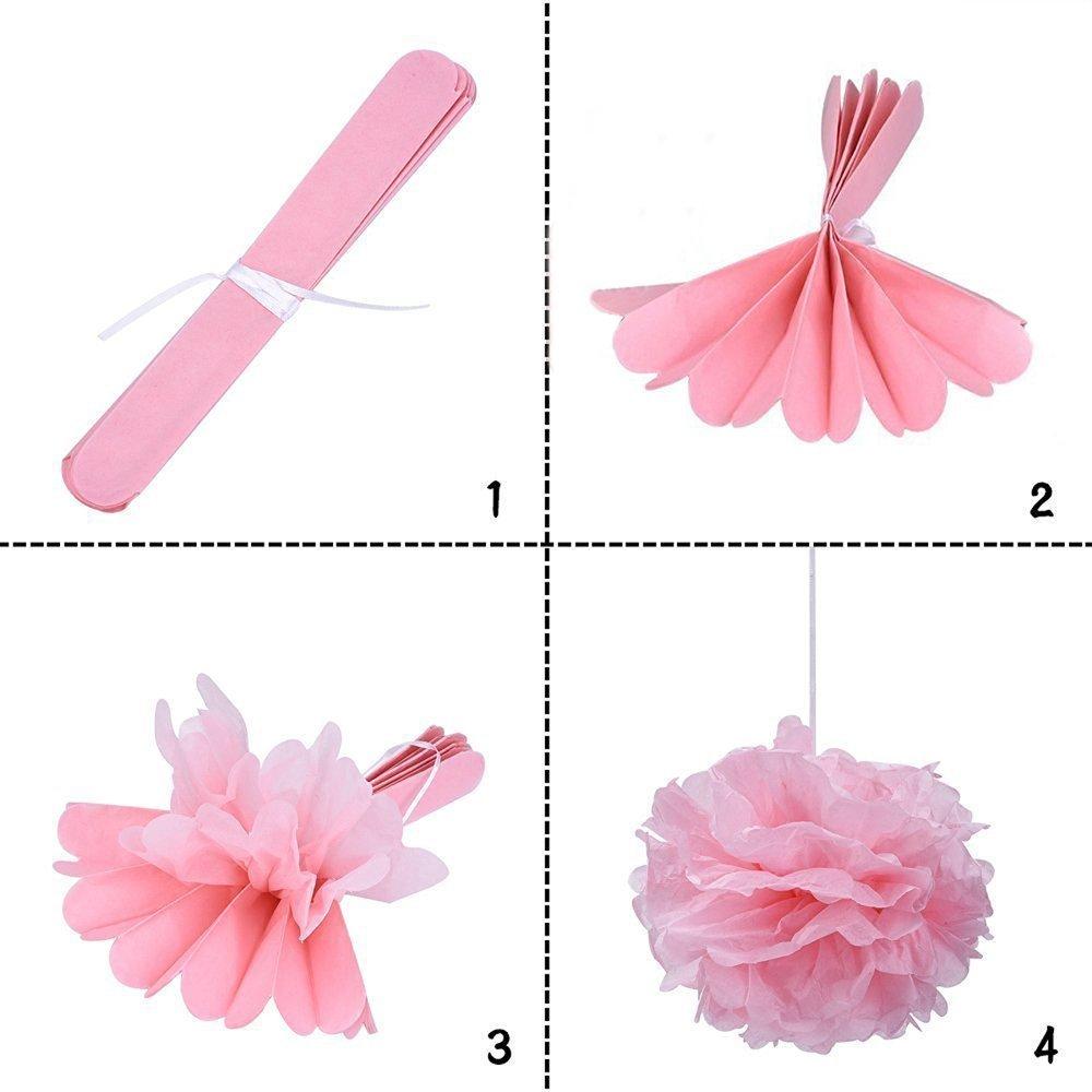 FLGood Trousse de d/écorations de f/ête de naissance avec 12 pompons et une fantastique banni/ère de bruant Cest une fille