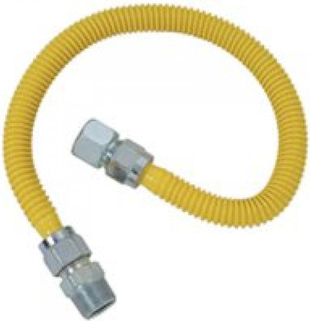 3//4 x 3//4  24 in.L BRASSCRAFT  Water Heater Supply Line BRASS