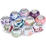 Perline Multicolor 50pcs Porcellana Perline Sparse Di Modello Assortiti