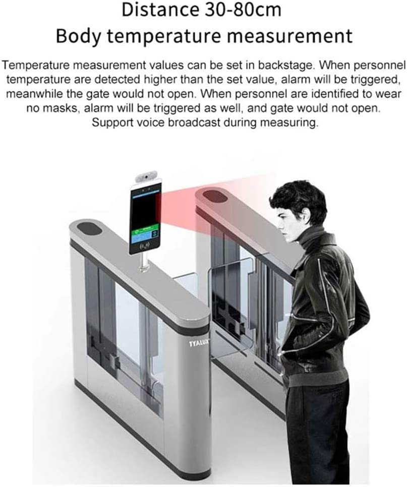 Mall for Entrance and Exit of Office Building Supermarket Starsmyy Not-Contact Infrared Thermometer Face Recognition Body Temperature Measurement System Non-Contact Digital Screen School